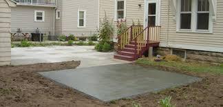 concrete patio appleton wi exterior concrete concrete patio fox valley wi