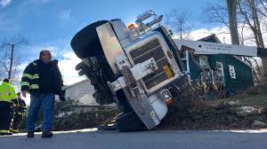 100 Boom Truck Truck Falls Onto North Salem House