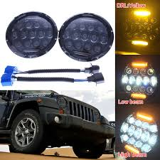 for jeep wrangler projector lens headlight 7 inch 75w led
