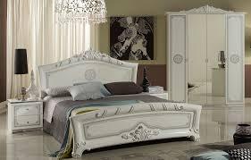 schlafzimmer great in weiss silber klassische design 4tlg yatego