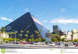 Luxor Casino Front Desk by Large Black Pyramid Styled Shape Of Luxor Casino Hotel From The
