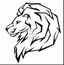 Spectacular Simple Lion Head Outlines With Beyblade Coloring Pages And Free