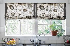 amazing curtain ideas for small windows with red floral motif in