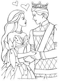 Princess Barbie And Prince Ken Coloring Pages