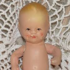 ANTIQUE JAPAN ALL Bisque Jointed Baby Dolls 4