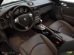 Black Stone Grey Interior 2008 Porsche 911 Turbo Cabriolet