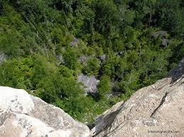 The View Down From Cliff Edge