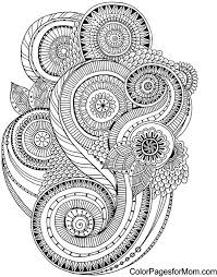 Abstract Doodle Zentangle Paisley Coloring Pages Colouring Adult Detailed Advanced Printable Kleuren Voor Volwassenen Coloriage Pour