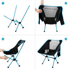 KUYOU Outdoor Fold Up Chairs, Beach Chairs Ultralight ...