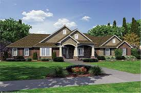 One Level Home Floor Plans Colors Mesmerizing Craftsman Style One Story House Plans Gallery Best