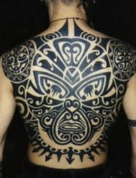 Back Maori Tribal Tattoo