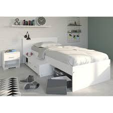 bett einzelbett schubladen nachtkommode kinderzimmer schlafzimmer 90 x 200 weiss