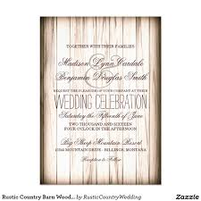 Rustic Country Barn Wood Wedding Invitations