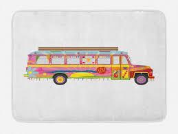 badematte plüsch badezimmer dekor matte mit rutschfester rückseite abakuhaus bunt hippie kunst muster kaufen otto