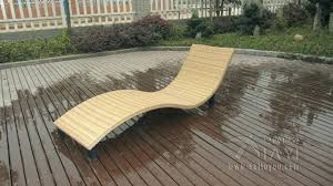 Swiming Pool Chairs Outdoor Lounge Chair Wooden