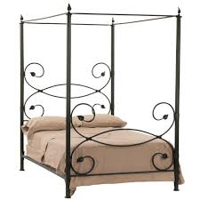 Black Wrought Iron Headboard King Size by Canopy Bed Iron Zamp Co