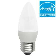 tcp 40w equivalent soft white 2700k blunt tip medium base