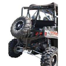 buy utv rear bumper cargo rack and spare tire carrier fits