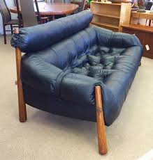 brazilian leather rosewood sofa by percival lafer sold
