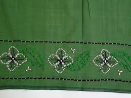 Saree Border With Couching Stitch