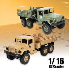 2.4G 6WD 6 Wheels RC Crawler Military Truck Off Road Rock Car Toy 1 ...