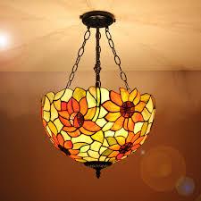 16 inch ls vintage sunflower pattern glass shade indoor