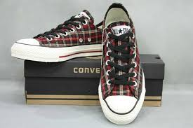 converse all plaid black shoes all plaid low top sneaker wholesale trade