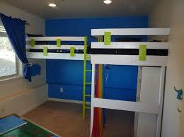 bathroom cheap full size white finished loft bunk beds loft