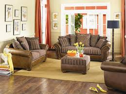 Brown Leather Sofa Decorating Living Room Ideas by Living Room Interesting Image Of Living Room Decoration Using