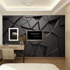 moderne kreative 3d geometrische abstrakte grau dreieck große wandbild 3d tapete wohnzimmer tv wand home decor wand tuch 3d fresko
