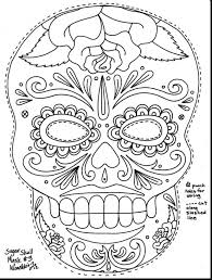Free Sugar Skull Coloring Pages For Adults Pdf Download Day Dead Skulls Print