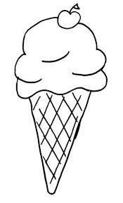 Kids Favorite Ice Cream Cone Coloring Pages