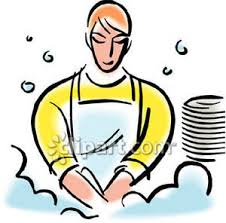 Dishwasher Clipart Person Washing Dishes