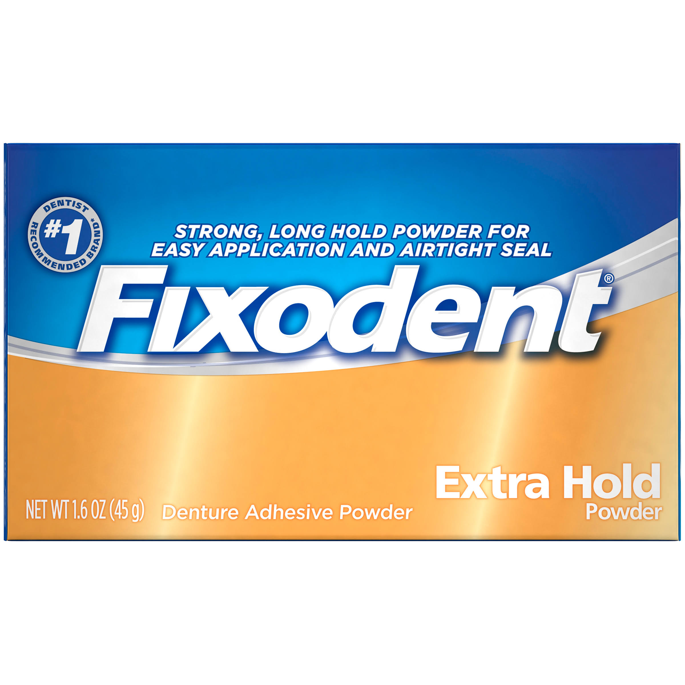 Fixodent Extra Hold Denture Adhesive Powder - 1.6oz