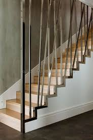 Modern Staircase Railing Designs 9 | Best Staircase Ideas Design ... Wall Mounted Metal Handrails Handrails Pinterest Lovable Pine Wood Natural Polished Curved Open Staircase With Best 25 Stair Spindles Ideas On Iron Railing Wooden With Bars Indoor Chrome Mobirolo Incridible Chrome Railing Banister Oak Steps As Modern Twisted Of Sacramento Stair Richard Burbidge Mmwecs Fusion Handrail End Cap Awesome Glass And Stainless Steel The Mopstick In White Hemlock More Fabulous Simplistic Stairs Style Bracket Crisp Details For