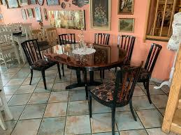 tisch stühle esszimmermöbel shabby chic vintage retro in