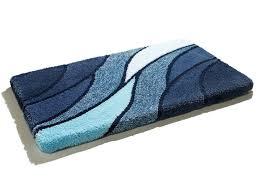 kleine wolke badgarnitur größe 100 duschvorleger 50 80 cm blau