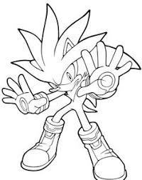 Silver The Naive One Coloring Pages For Kids Printable Sonic Hedgehog