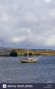100 Colbost Boat At Anchor By Loch Dunvegan Isle Of Skye Inner Stock