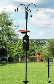 Bird Feeder Pole System S7 at Backyard Wild Birds
