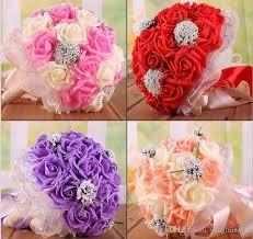 Rose Artificial Bridal Flower Wedding Bouquet Flowers Bridal Brooch