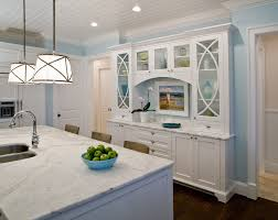 Dining Room Hutch Ideas Kitchen Traditional With Barstools Blue Walls Built Image By Studio M Interior Design Inc
