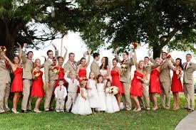 Red And Khaki St Simons Island Wedding Via TheELD