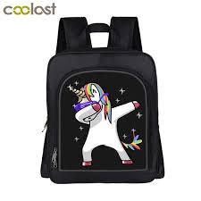 13 Funny Dabbing Unicorn Backpack For Kids Dab Panda Boys Girls Kindergarten Bag Children Small School Bags Book Jute Drawstring