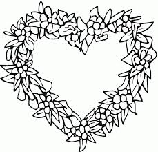 Hearts Coloring Pages Cl Heart For Mothers Day Color Page Free