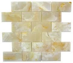 12 x12 white onyx polished finish mesh mounted mosaic
