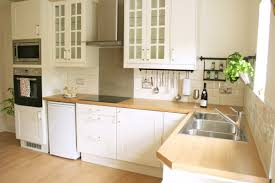 Ikea Double Sink Kitchen Cabinet by L Shape Kitchen Decoration Using White Wood Glass Door Ikea