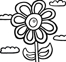 Flowers To Colour Children Coloring Pictures Color Az Pages Flower Garden For Kids Page Of Plants