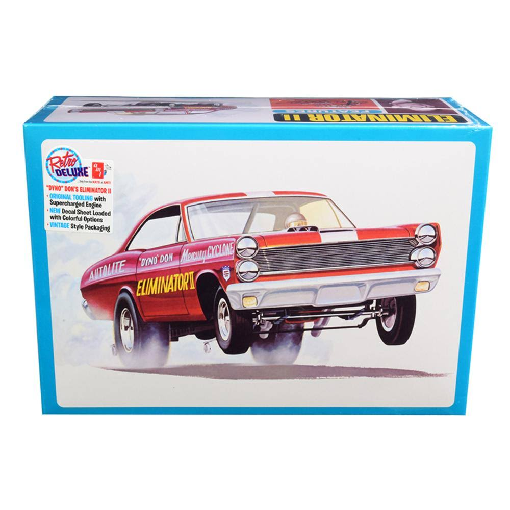 Skill 2 Model Kit Mercury Cyclone Funny Drag Car Dyno Don Nicholsons Eliminator II 1/25 Scale Model by AMT