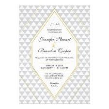 Stylish Modern Gold Geometric Wedding Invite